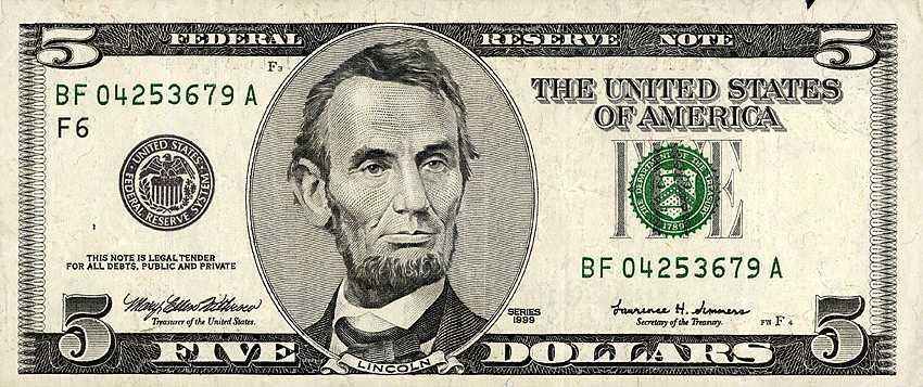 $5 Dollars