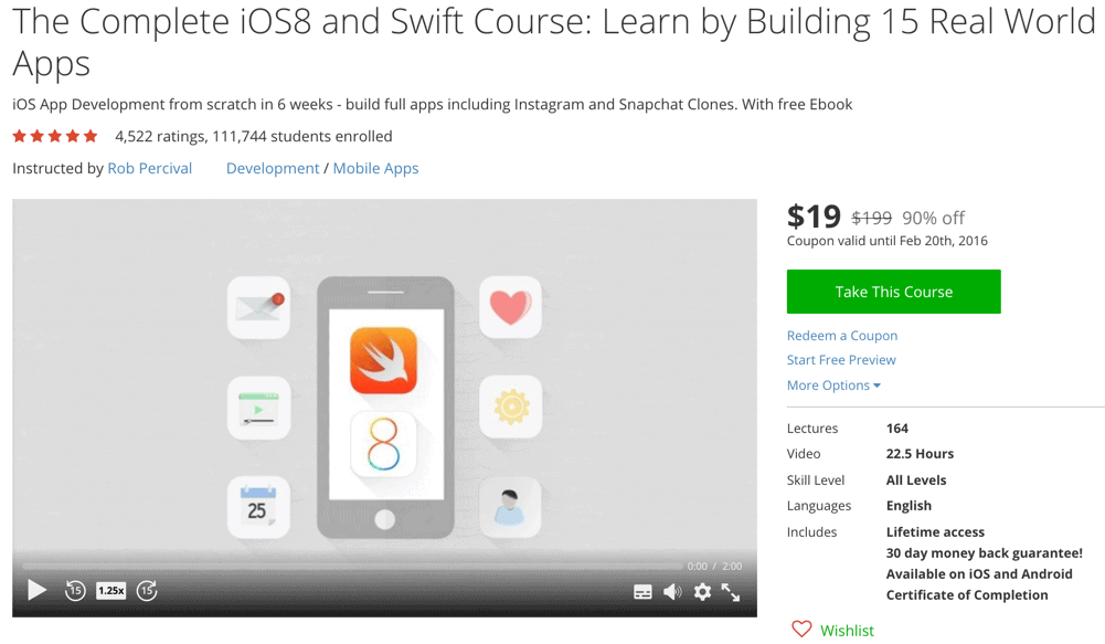 The Complete iOS8 and Swift Course- Learn by Building 15 Real World Apps
