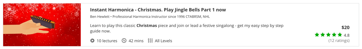 Instant Harmonica - Christmas. Play Jingle Bells Part 1 now