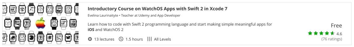 Introductory Course on WatchOS Apps with Swift 2 in Xcode 7