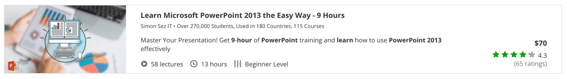 Learn Microsoft PowerPoint 2013 the Easy Way - 9 Hours