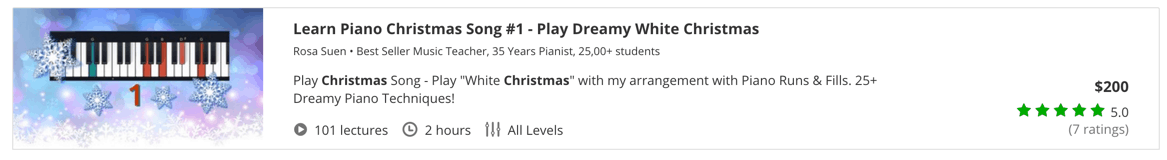 Learn Piano Christmas Song #1 - Play Dreamy White Christmas