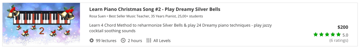 Learn Piano Christmas Song #2 - Play Dreamy Silver Bells