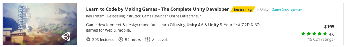 Learn to Code by Making Games - The Complete Unity Developer