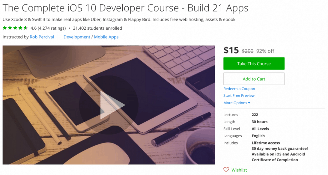 The Complete iOS 10 Developer Course - Build 21 Apps