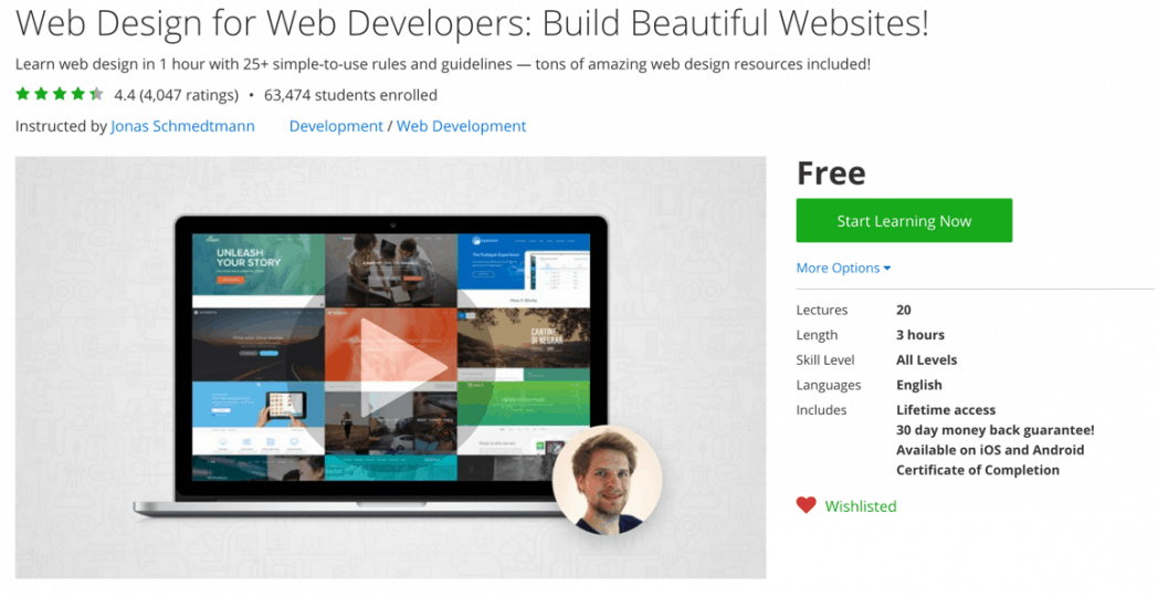 Web Design For Web Developers Build Beautiful Websites Online Course Coupons Featuring Skillshare And Udemy Course Discounted Udemy Courses
