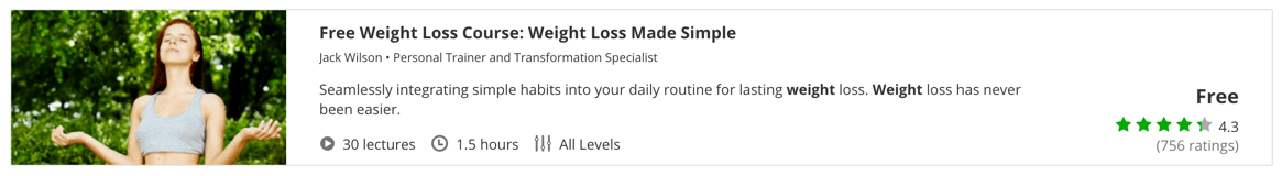 Free Weight Loss Course- Weight Loss Made Simple