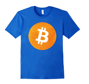 Bitcoin Orange Metal T-Shirt For Cryptocurrency Lovers